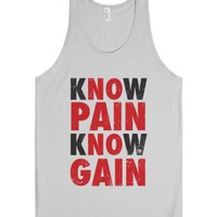 Know Pain Know Gain (No Pain No Gain) (Tank)-Unisex Silver Tank
