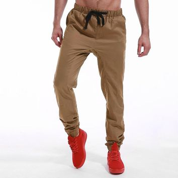 Men Casual Harem Pants Slim Fit Fashion Joggers