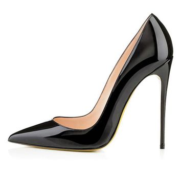 Shoes Woman High Heel Pumps Sexy Black High Heels Pointed Toe Women Shoes Brand Patent