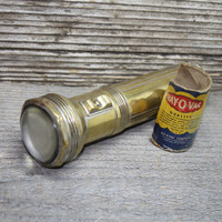 RayoVac Brass Plated Metal Flashlight with Convex Bubble Glass Lens