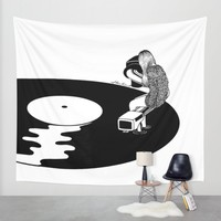 Don't Just Listen, Feel It Wall Tapestry by Henn Kim | Society6