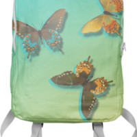 Wild Butterflies Backpack created by Christy Leigh | Print All Over Me