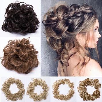 Beauty Pony Tail Women Messy Hair Bun Hairpiece Extension Scrunchie AS Real Hair