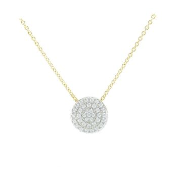 Gylla Clear CZ Circle Gold Pendant Necklace