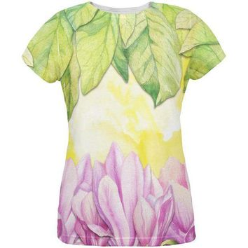 PEAPGQ9 Mardi Gras French Quarter Magnolias at Sunrise All Over Womens T Shirt