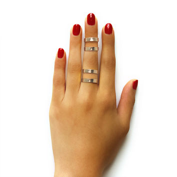 Double Line Cleopatra Ring Set