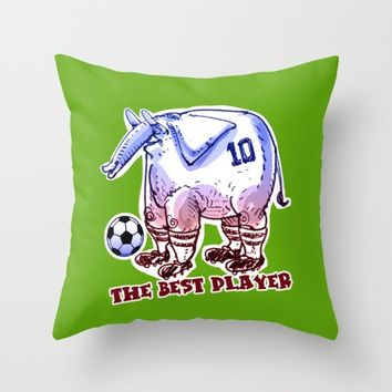 the best player elephant Throw Pillow by anticute