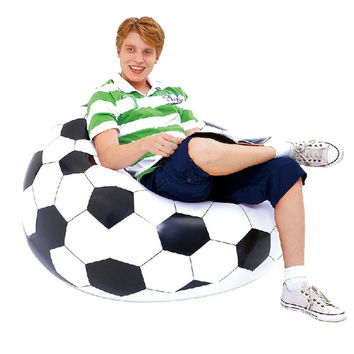 Portable Outdoor Garden Sofa Living Room Furniture Corner Sofa 110*80cm Inflatable Sofa Soccar Football Self Bean Bag Chair
