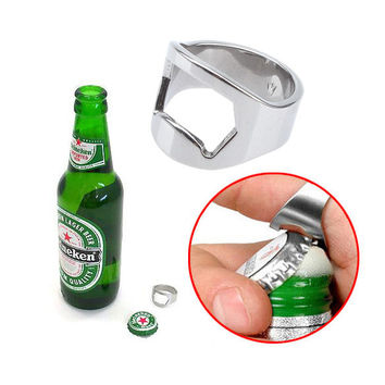 Creative Stainless Steel Finger Ring Bottle Opener