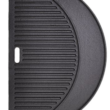 Half Moon Cast Iron Cooking Griddle, 18 Inch