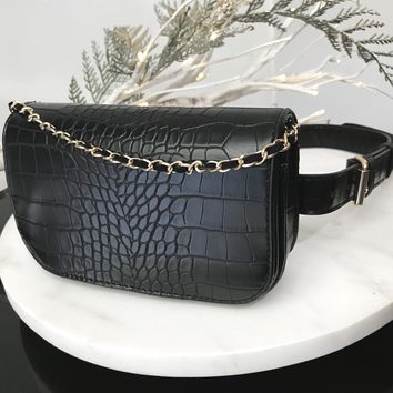 Costa Snake Embossed Convertible Bag