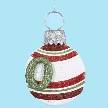 "3 Christmas Ornaments - Monogram  "" O """
