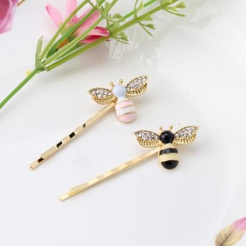 M MISM Cute Girls Crystal Wings Bees Hair Jewelry Animal Styles Hairpins Hair Clips for Women's Hair Accessories Barrettes