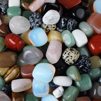 200G Bulk Assorted Mixed Tumbled Stone Lapis Crystal Aventurine Obsidian Gemstone Rock Minerals For Reiki Chakra Healing Beads