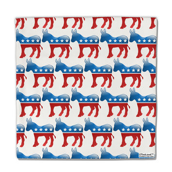 "Democratic Symbol All Over Micro Fleece 14""x14"" Pillow Sham All Over Print"