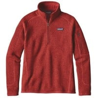 Patagonia Women's Better Sweater 1/4-Zip Fleece Sumac Red
