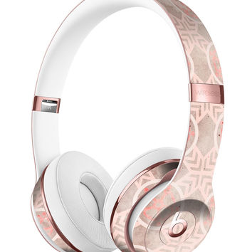 Faded Red Floral Cross Pattern Full-Body Skin Kit for the Beats by Dre Solo 3 Wireless Headphones