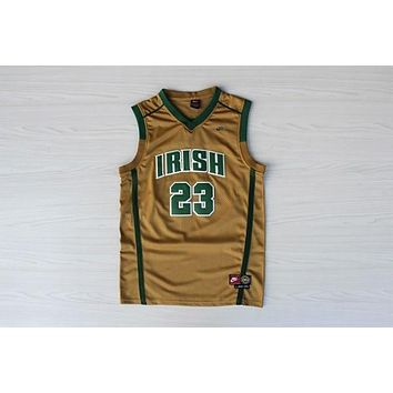 High School Jerseys St. Vincent-St. Mary High School STVM Fighting Irish #23 LeBron James Gold