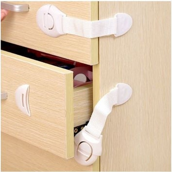 3PCS Cabinet Door Drawers Refrigerator Toilet Safety Plastic Lock For Child