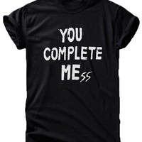 Ep Apparel Us NEW YOU Complete Me Mess 5sos Luke Hemmings Unisex T Shirt (MEDIUM 10 - 12, Black)