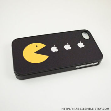 Funny Pacman iPhone 4 Case iPhone 4s Case iPhone 4 by rabbitsmile
