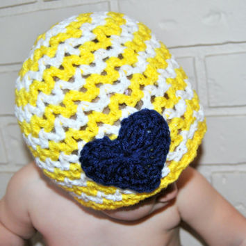 Crochet Chevron Hat, Girls Nautical Crochet Hat, Spring Beanie, Crochet Baby Hat, Toddler Girls Crochet Summer Hat, Newborn Photo Prop