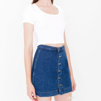American Apparel button denim short skirt Mini High Waist Short Falda Skirts Jeans Saia slim hip skirt female pencil skirt