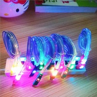 Emoji Colorful Visible Light Up LED Wall Charger Cable Cord