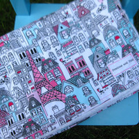 Baby Girl Minky Blanket, Paris Blanket, Eiffel Tower, Stroller Blanket