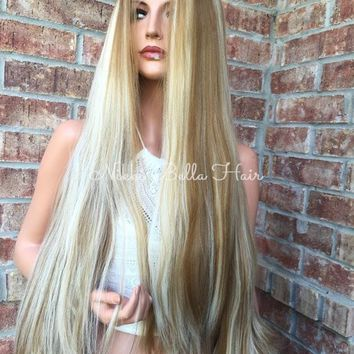 San Diego Blonde Lace Swiss Front Wig 30""