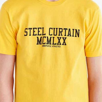 Undefeated Pittsburgh Steel Curtain Tee- Gold
