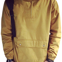 Plain Zip Hooded Coat