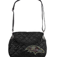 Baltimore Ravens NFL Sport Noir Quilted Saddlebag