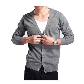 New Men Cashmere Blend Cardigans Sweater Autumn&Winter V-Neck Knitted Thin Casual Male 10 Colors Knitwear Jumpers M-XXXL