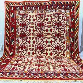 "Large Moroccan wool rug 9'7"" x 13'4"""
