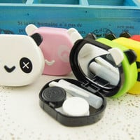 Outdoor Panda Shape Travel Kit Storage Contact Lens Case Box Container Holder