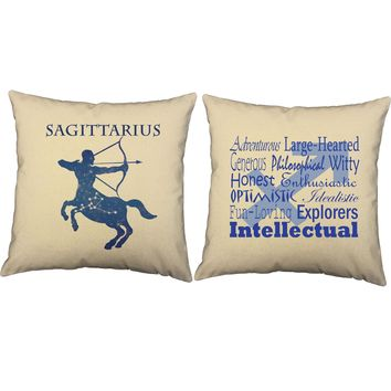 Sagittarius Zodiac Throw Pillows