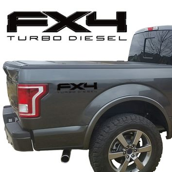 FX4 TURBO DIESEL VINYL DECALS FIT FORD TRUCK 2008-2017 F150 F250 F350 SUPER DUTY