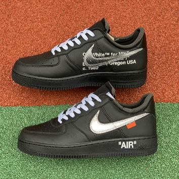 [Free Shipping ]OFF-WHITE x MoMA x Air Force 1 07 Virgil AV5210-001  Basketball Shoes