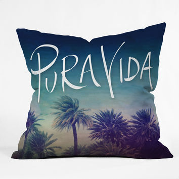 Leah Flores Pura Vida Outdoor Throw Pillow