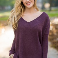 Piko Dusty Purple Snuggle Sweater