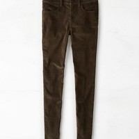 AEO Women's Hi-rise Corduroy Jegging (Deep Forest Green)