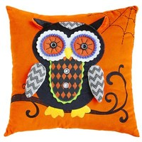 Embellished Owl Pillow