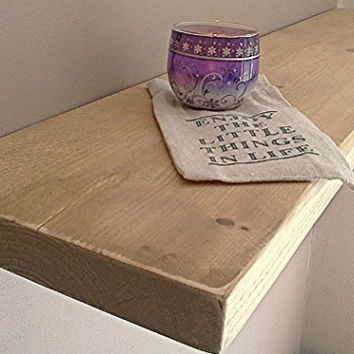 Floating Shelves, Wooden Shelves, Wall Shelf - Distressed - ** FREE UK DELIVERY **