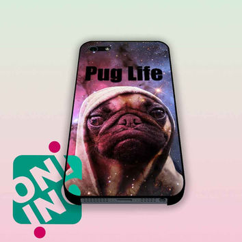 Funny Pug Life On Galaxy iPhone Case Cover | iPhone 4s | iPhone 5s | iPhone 5c | iPhone 6 | iPhone 6 Plus | Samsung Galaxy S3 | Samsung Galaxy S4 | Samsung Galaxy S5