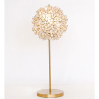 Gold Mila Table Lamp in White