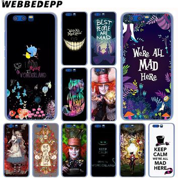 WEBBEDEPP Alice in Wonderland Case for SamSung Galaxy A8 A7 A6 Plus A5 A3 2018 2017 2016 2015 Cover
