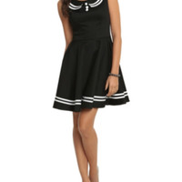 Hell Bunny Black Sailor Dress