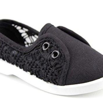 Toddler Girls Rockland Cutie-30I Slip On Lace Flat Shoes