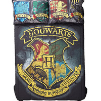 Harry Potter Distressed Hogwarts Crest Full/Queen Comforter